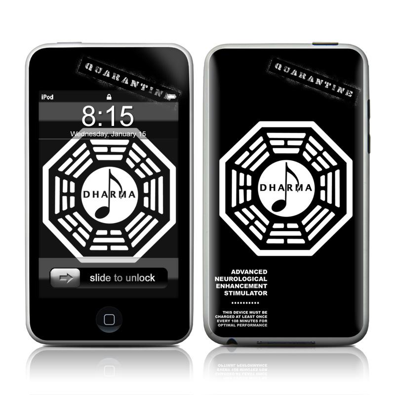 Dharma Black iPod touch Skin