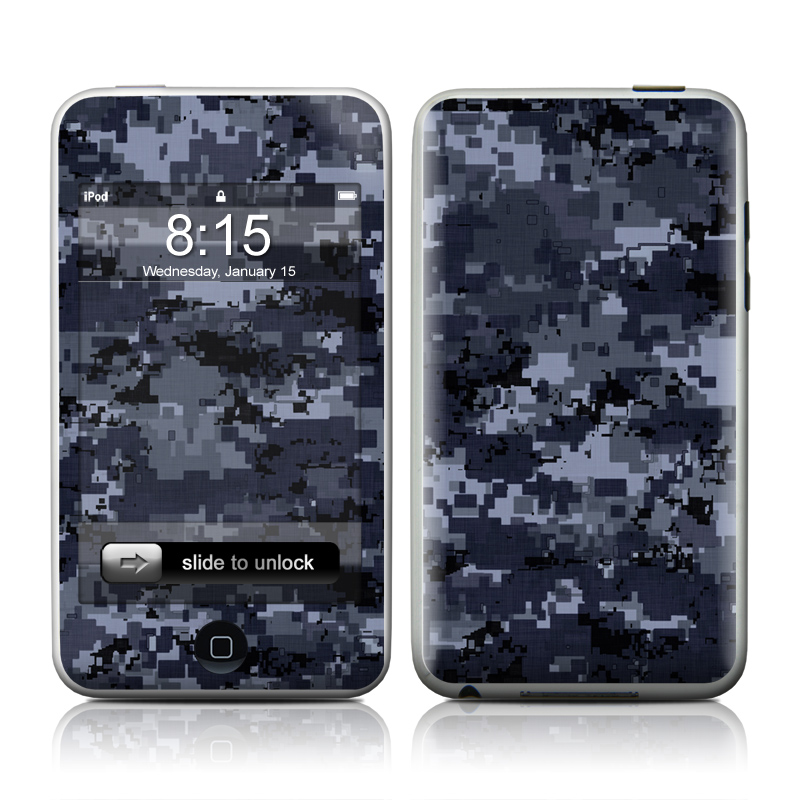 Digital Navy Camo iPod touch Skin