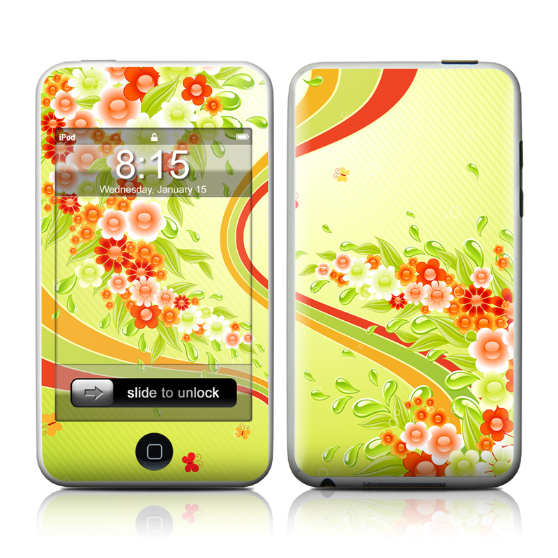 Flower Splash iPod touch Skin