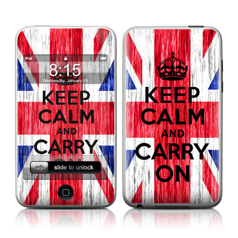 Keep Calm - Grunge iPod touch Skin