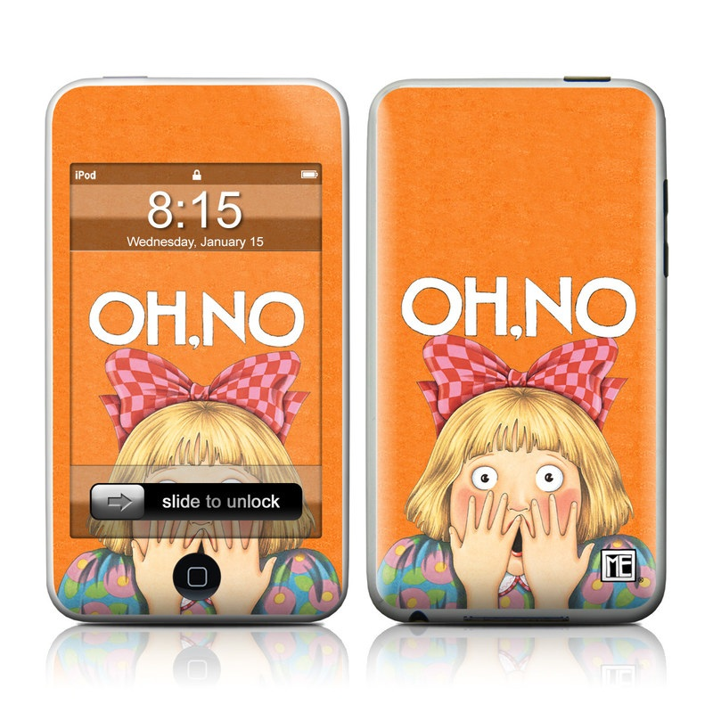 iPod touch 1st Gen Skin design of Cartoon, Nose, Illustration, Poster, Art, Fiction, Book cover, Happy, Gesture with orange, pink, gray, green, red, white colors