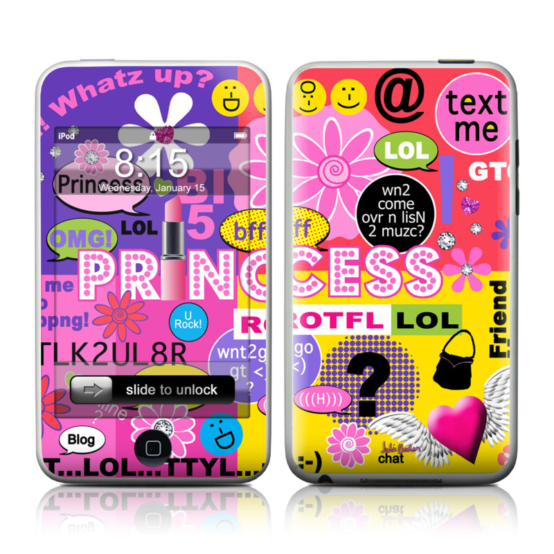 Princess Text Me iPod touch Skin