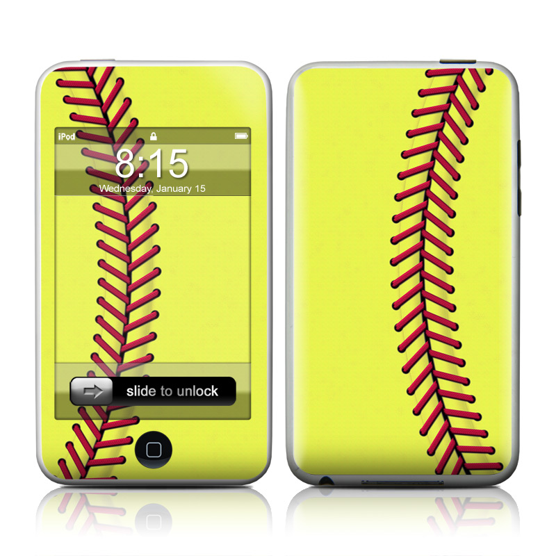 iPod touch 1st Gen Skin design of Yellow, Line, Parallel with green, red, black colors