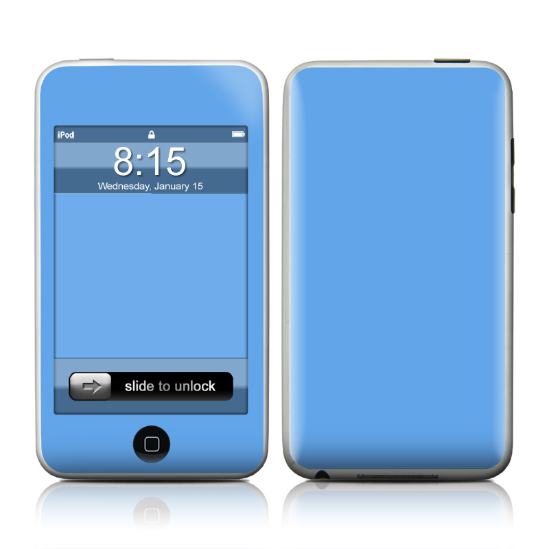Solid State Blue iPod touch Skin