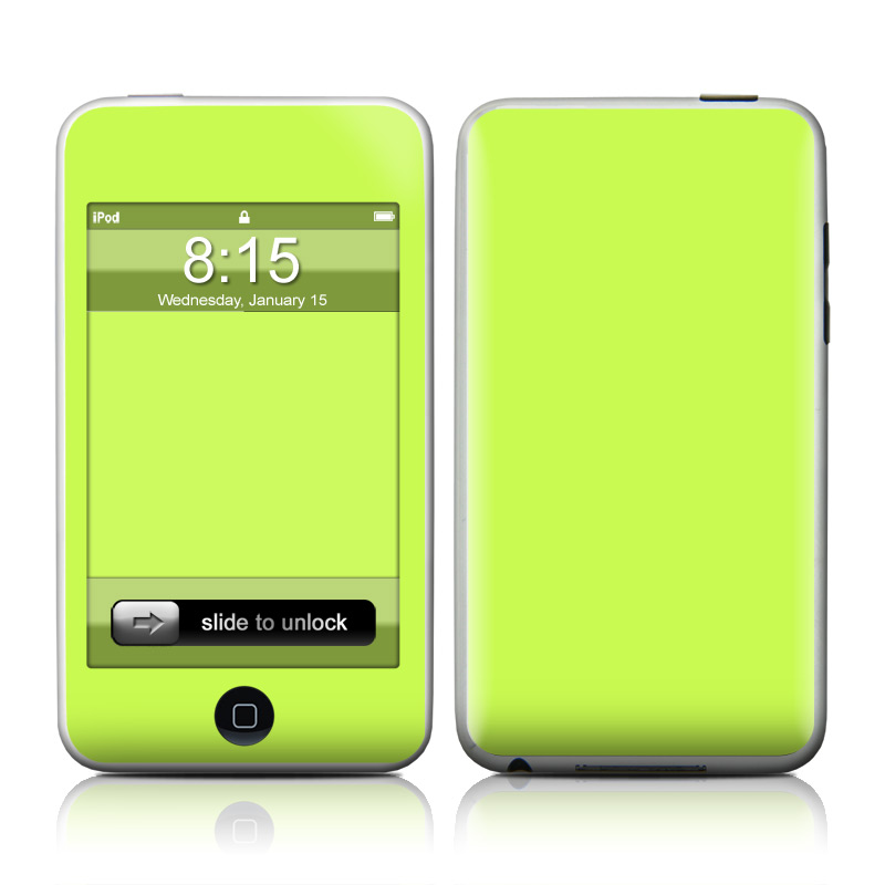 Solid State Lime iPod touch Skin