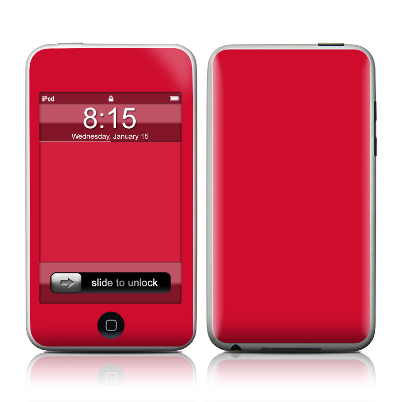Solid State Red iPod touch Skin