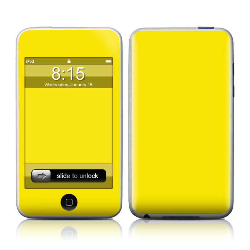 Solid State Yellow iPod touch Skin