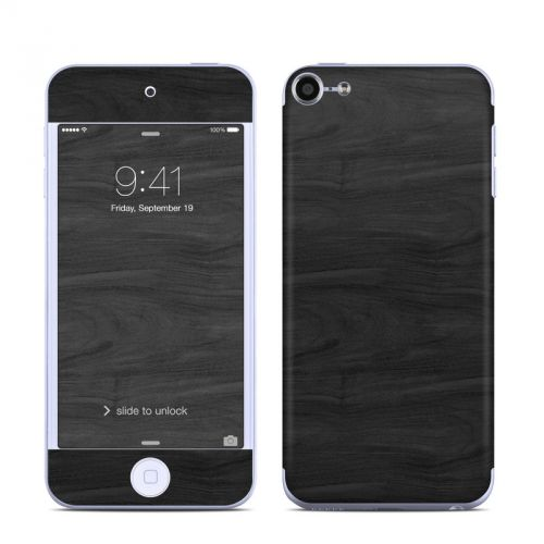 Black Woodgrain iPod touch 6th Gen Skin