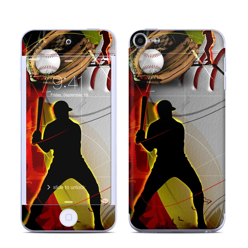iPod touch 6th Gen Skin design of Basketball, Streetball, Graphic design, Basketball player, Team sport, Slam dunk, Animation, Basketball moves, Illustration, Ball game with gray, black, red, white, green, pink colors