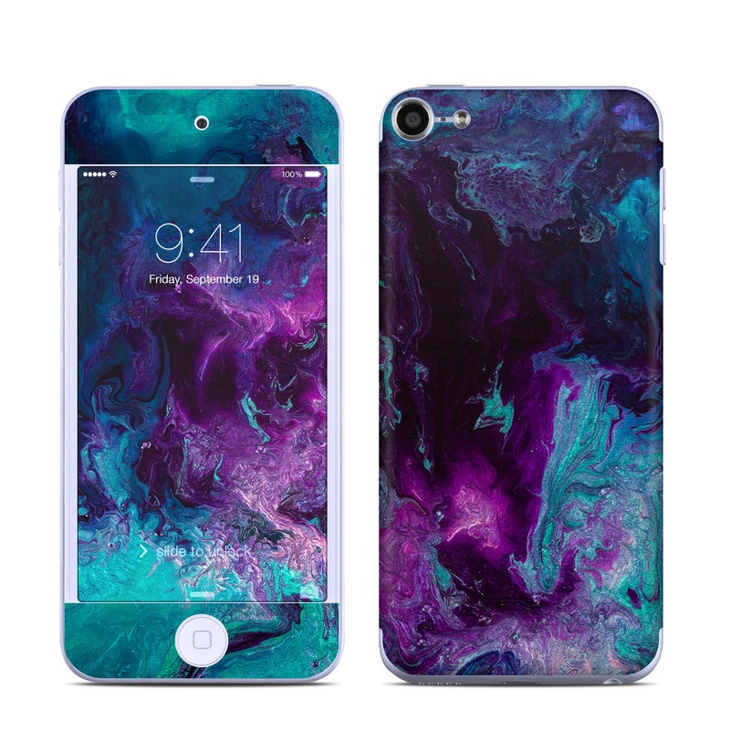 iPod touch 6th Gen Skin design of Blue, Purple, Violet, Water, Turquoise, Aqua, Pink, Magenta, Teal, Electric blue with blue, purple, black colors
