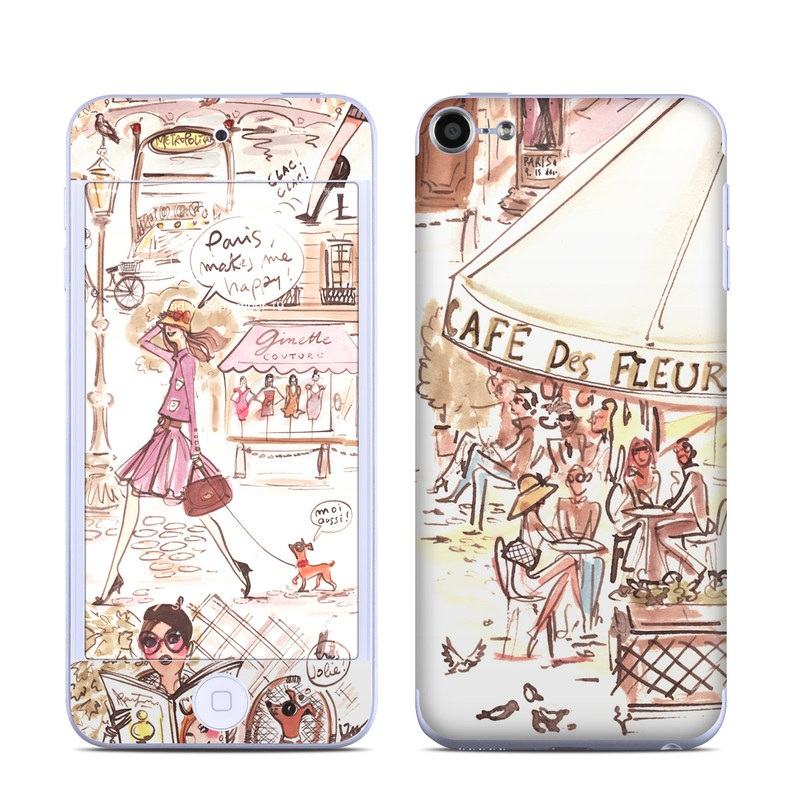 Paris Makes Me Happy iPod touch 6th Gen Skin