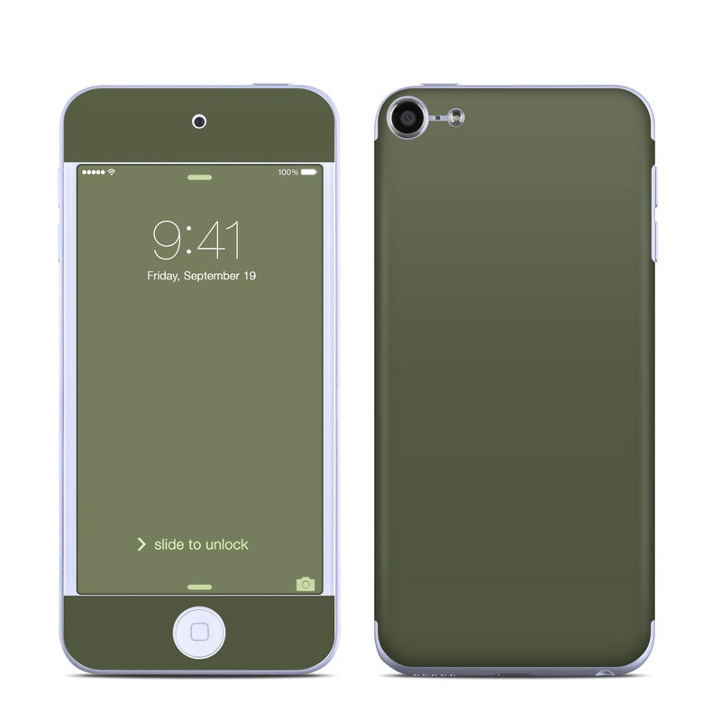 Solid State Olive Drab iPod touch 6th Gen Skin