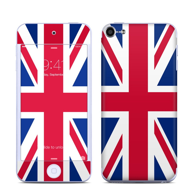 iPod touch 6th Gen Skin design of Flag, Red, Line, Electric blue, Design, Font, Pattern, Parallel, Flag Day (USA) with red, white, blue colors