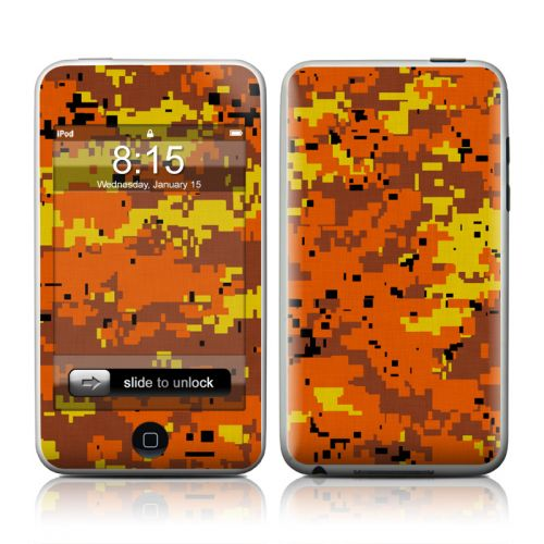Digital Orange Camo iPod touch 2nd Gen or 3rd Gen Skin
