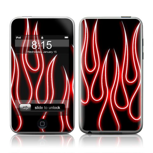 Red Neon Flames iPod touch 2nd Gen or 3rd Gen Skin
