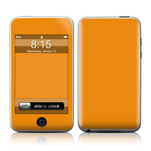 Solid State Orange iPod touch 2nd Gen or 3rd Gen Skin