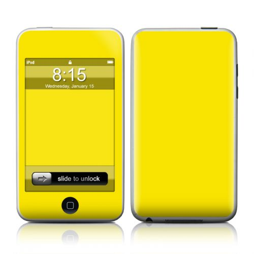 Solid State Yellow iPod touch 2nd Gen or 3rd Gen Skin