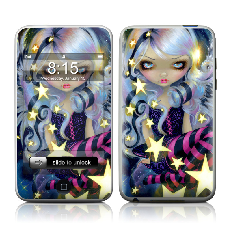 iPod touch 2nd & 3rd Gen Skin design of Cg artwork, Purple, Violet, Illustration, Fictional character, Anime, Art, Graphics, Graphic design with blue, red, purple, white, yellow colors
