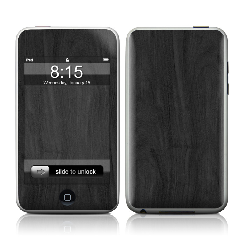iPod touch 2nd & 3rd Gen Skin design of Black, Brown, Wood, Grey, Flooring, Floor, Laminate flooring, Wood flooring with black colors