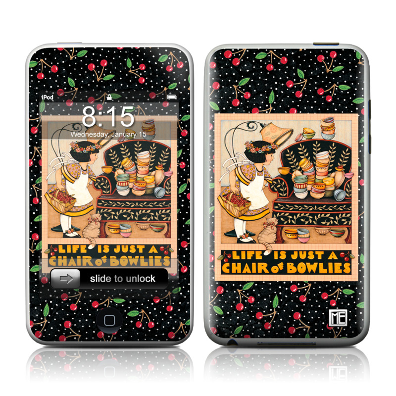 iPod touch 2nd & 3rd Gen Skin design of Poster, Illustration, Christmas eve, Christmas, Art with black, red, green, orange, yellow colors