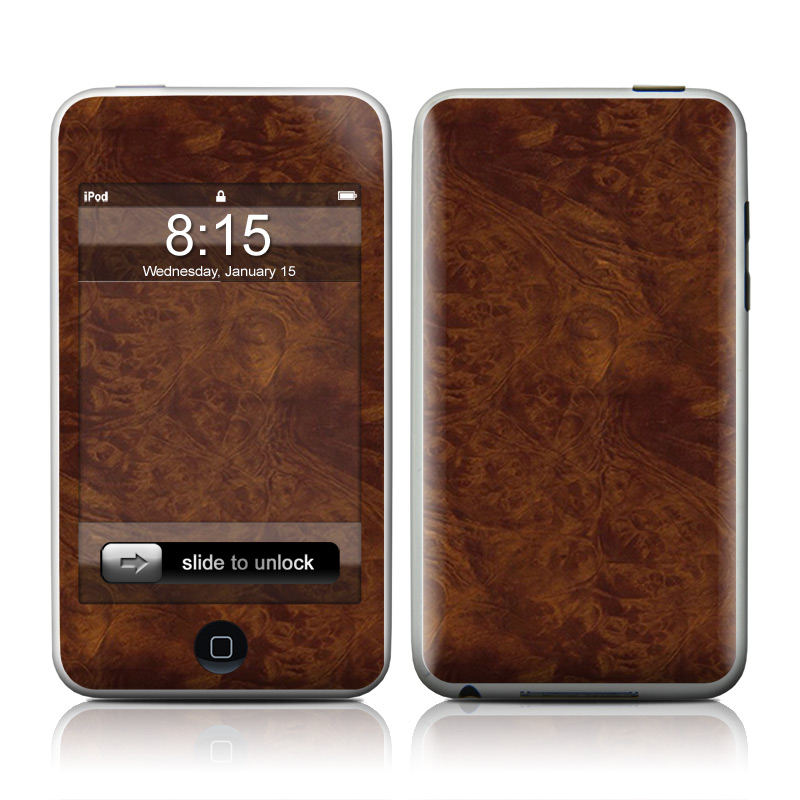 Dark Burlwood iPod touch 2nd & 3rd Gen Skin