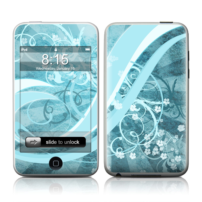 iPod touch 2nd & 3rd Gen Skin design of Aqua, Blue, Turquoise, Pattern, Teal, Text, Circle, Design, Graphic design, Wallpaper with gray, blue, purple colors