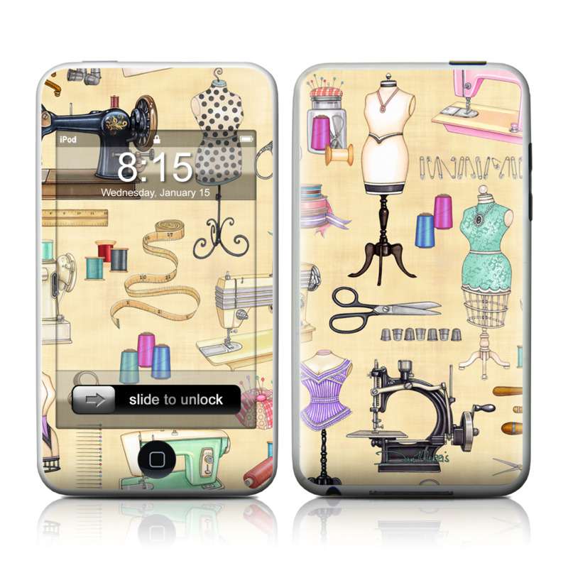 iPod touch 2nd & 3rd Gen Skin design of Design, Machine, Clip art, Illustration, Art with pink, gray, black, green colors