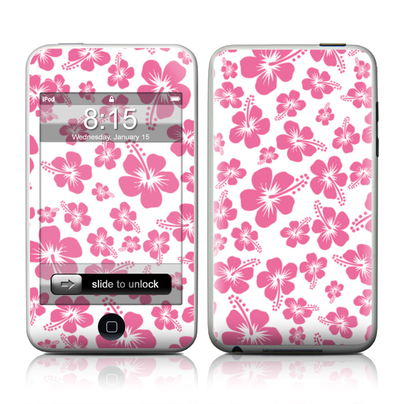 iPod touch 2nd & 3rd Gen Skin design of Pink, Pattern, Purple, Pedicel, Magenta, Petal, Design, Plant, Heart, Floral design with white, pink, purple, gray colors
