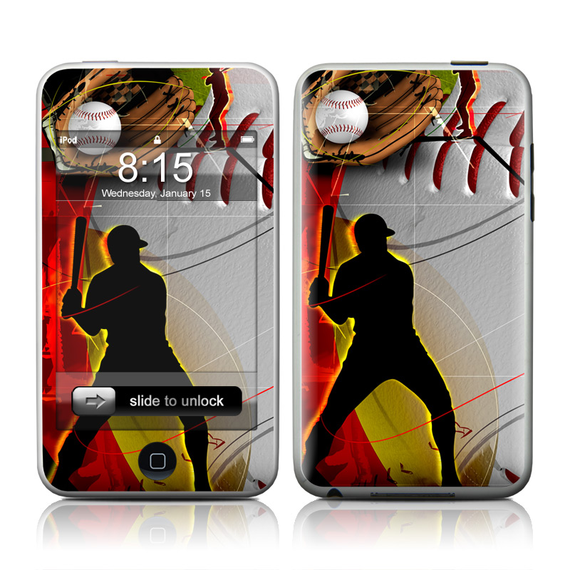 iPod touch 2nd & 3rd Gen Skin design of Basketball, Streetball, Graphic design, Basketball player, Team sport, Slam dunk, Animation, Basketball moves, Illustration, Ball game with gray, black, red, white, green, pink colors