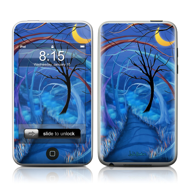 iPod touch 2nd & 3rd Gen Skin design of Blue, Art, Painting, Electric blue, Cg artwork, Illustration, Acrylic paint, Tree, Fictional character, Dragon with blue, black, red, gray colors