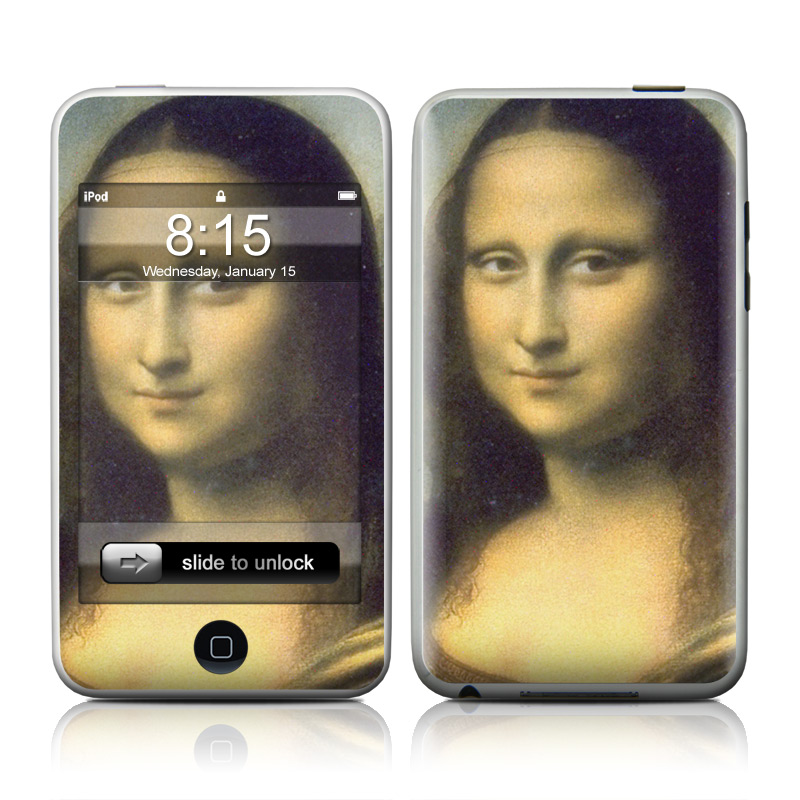iPod touch 2nd & 3rd Gen Skin design of Face, Painting, Lady, Portrait, Head, Nose, Beauty, Cheek, Chin, Art with black, gray, green, red, blue colors