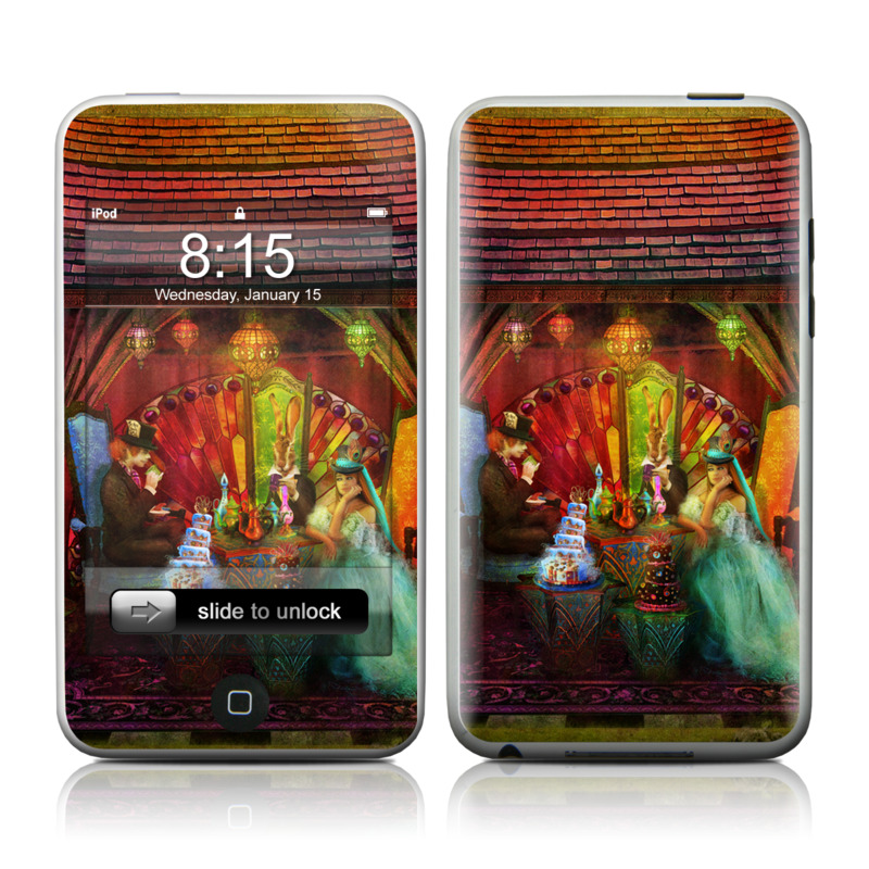iPod touch 2nd & 3rd Gen Skin design of Hindu temple, Temple, Art, Painting, Place of worship, Stage, Fictional character with black, red, green, blue, gray colors