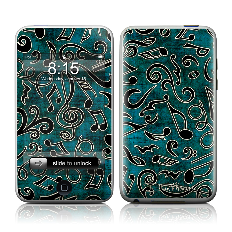 Music Notes iPod touch 2nd Gen or 3rd Gen Skin