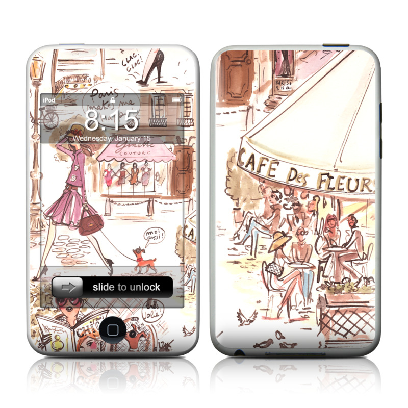 iPod touch 2nd & 3rd Gen Skin design of Cartoon, Illustration, Comic book, Fiction, Comics, Art, Human, Organism, Fictional character, Style with gray, white, pink, red, yellow, green colors