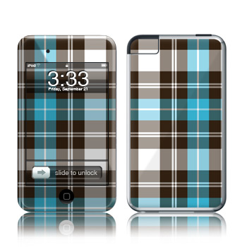 Blue Plaid iPod touch 2nd Gen or 3rd Gen Skin