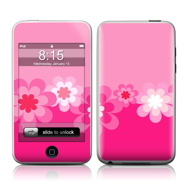 Retro Pink Flowers iPod touch 2nd Gen or 3rd Gen Skin