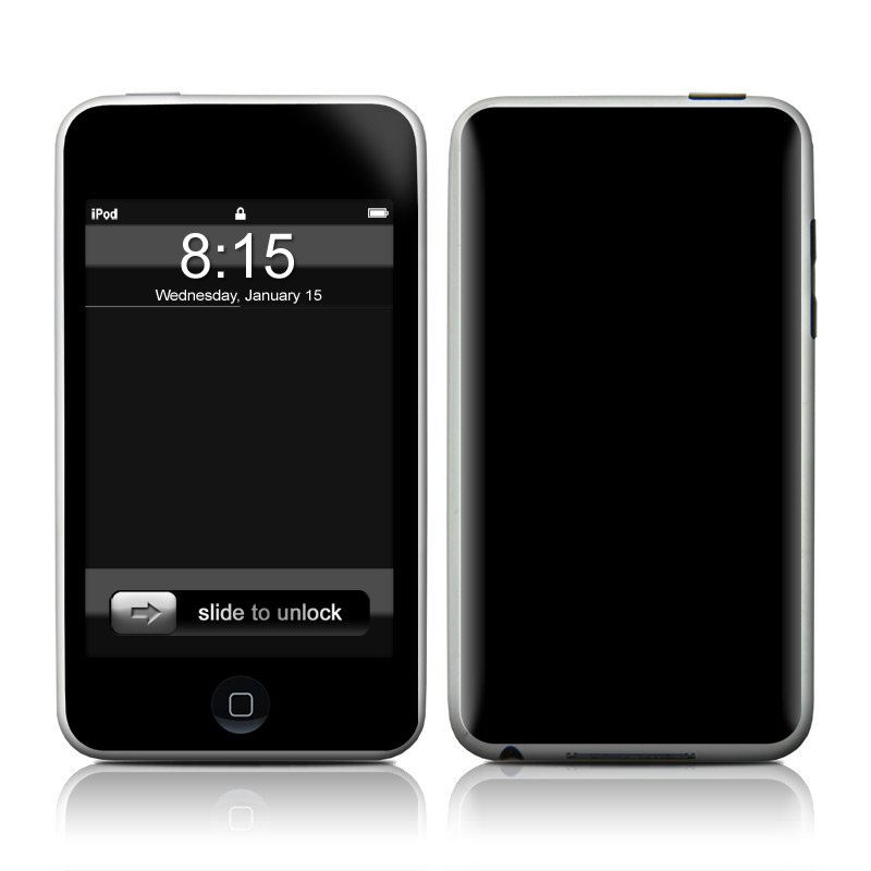 Solid State Black iPod touch 2nd Gen or 3rd Gen Skin