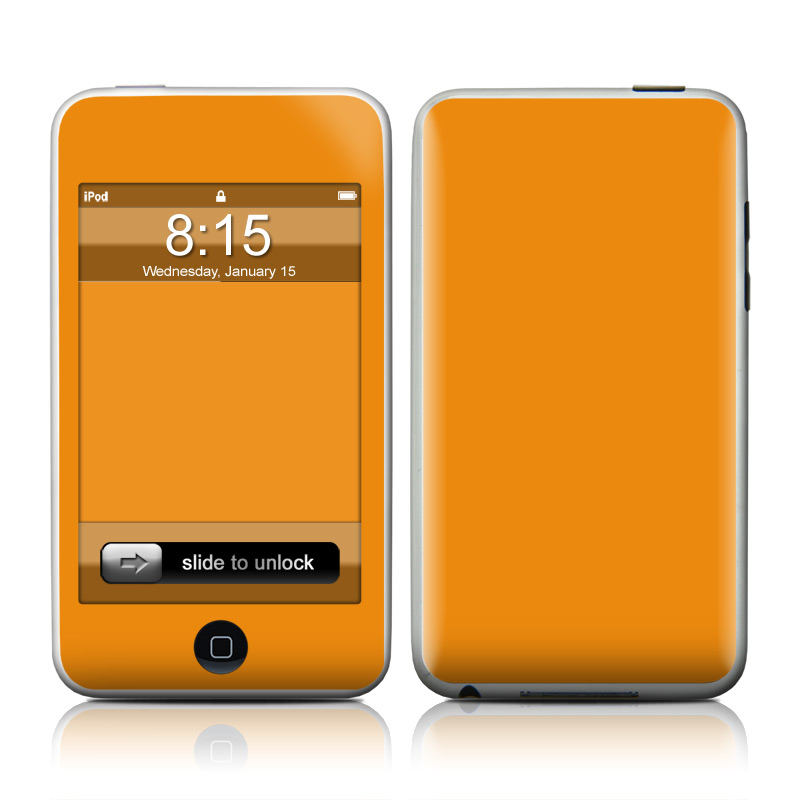 Solid State Orange iPod touch 2nd & 3rd Gen Skin