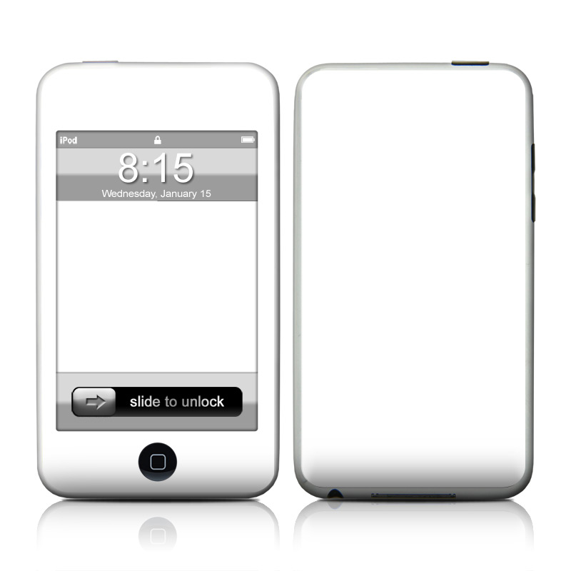 iPod touch 2nd & 3rd Gen Skin design of White, Black, Line with white colors