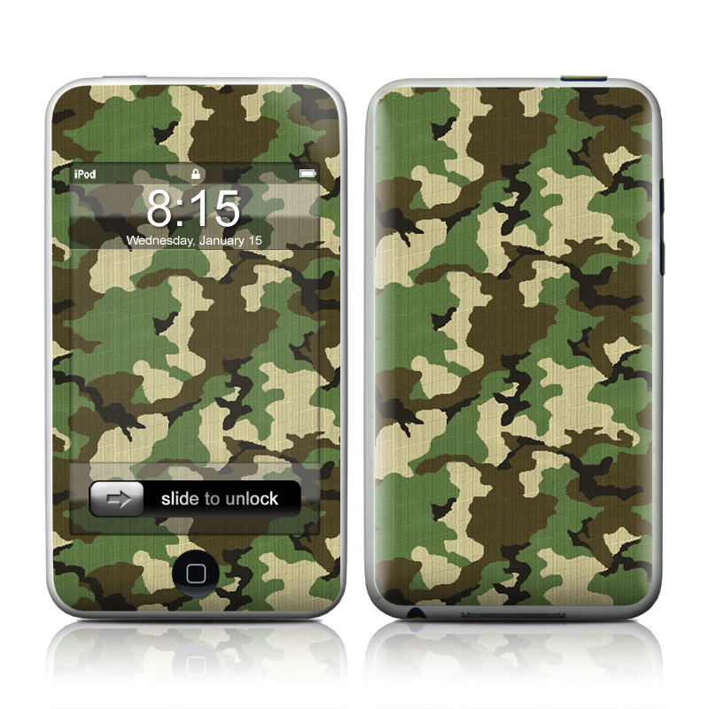 Woodland Camo iPod touch 2nd & 3rd Gen Skin