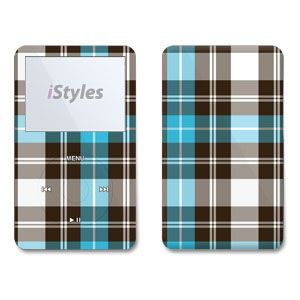 Turquoise Plaid iPod Video Skin