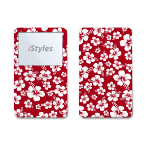 Aloha Red iPod Video Skin