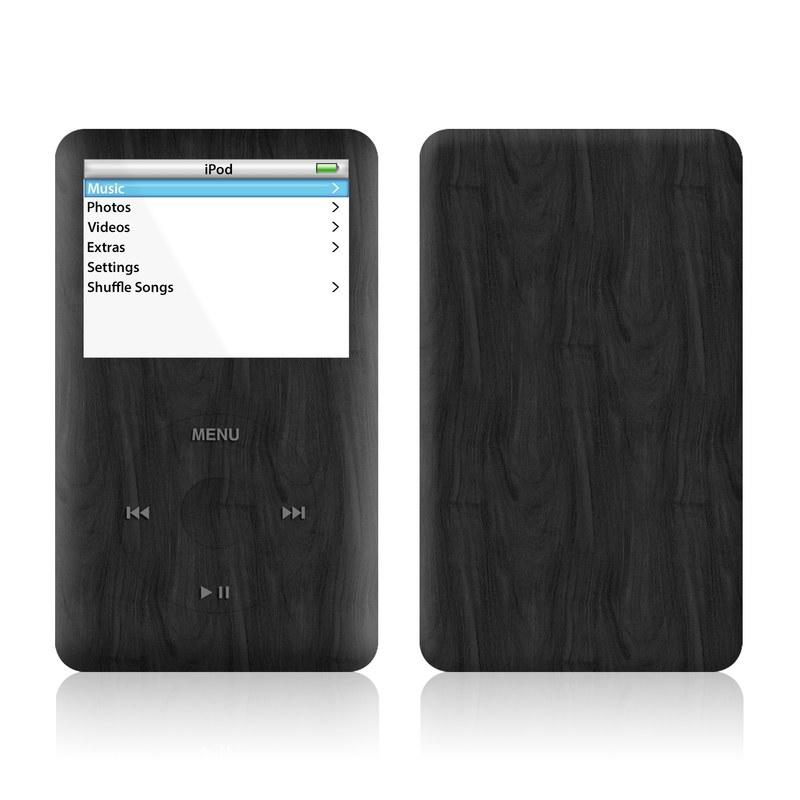 iPod 5th Gen Skin design of Black, Brown, Wood, Grey, Flooring, Floor, Laminate flooring, Wood flooring with black colors