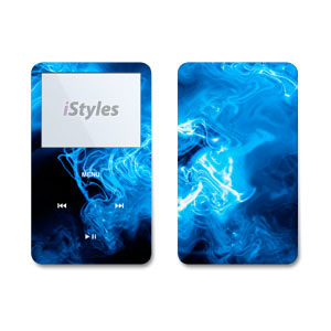 Blue Quantum Waves iPod Video Skin