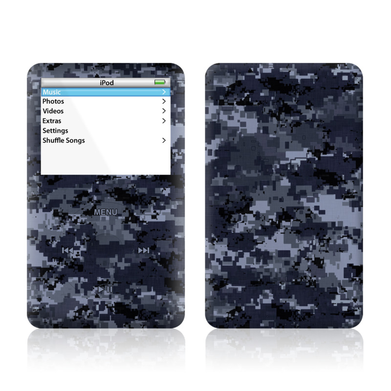 Digital Navy Camo iPod Video Skin