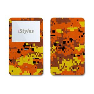 Digital Orange Camo iPod Video Skin