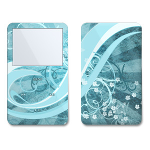 iPod 5th Gen Skin design of Aqua, Blue, Turquoise, Pattern, Teal, Text, Circle, Design, Graphic design, Wallpaper with gray, blue, purple colors