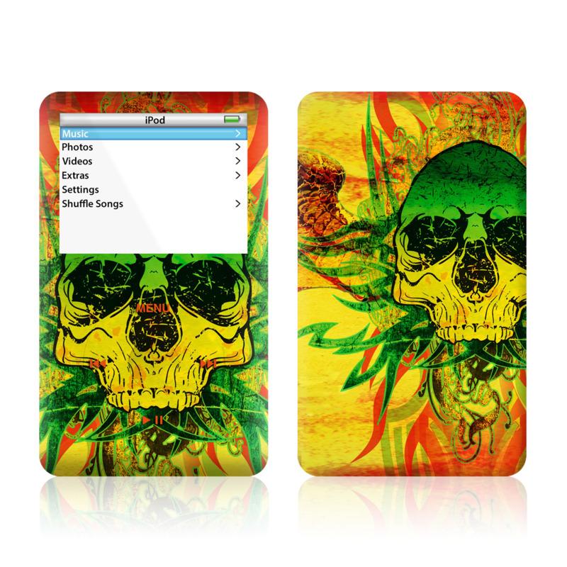 Hot Tribal Skull iPod Video Skin