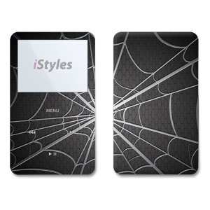 iPod 5th Gen Skin design of Black, Pattern, Black-and-white, Monochrome, Line, Spider web, Symmetry, Design, Monochrome photography, Stock photography with black, gray colors