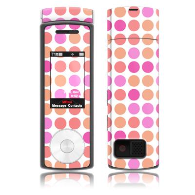 Big Dots Peach Samsung Juke Skin